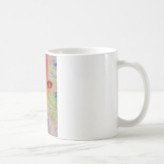 Baby Brown Cow face. RAINBOW GRASS Basic White Mug