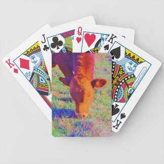 Baby Brown Cow face RAINBOW GRASS Card Decks