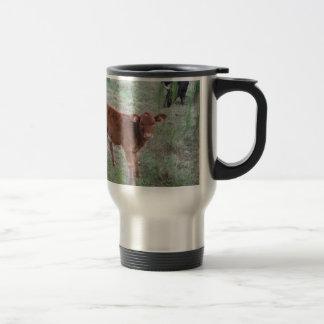 Baby Brown Cow . Coffee Mugs