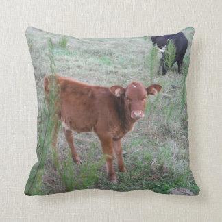 Baby Brown Cow. Throw Cushion