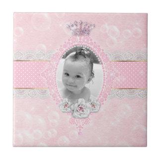 Baby Bubble Girl Glitter Crown Rose Lace Dot Tile
