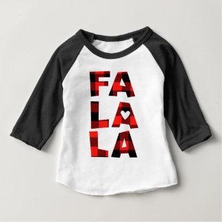Baby Buffalo Plaid Shirt Fa La La Christmas Tee