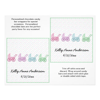 Baby Buggy Candybar Wrappers 21.5 Cm X 28 Cm Flyer