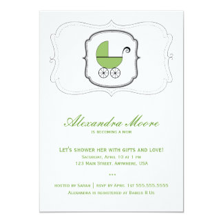 Baby Buggy Invitation