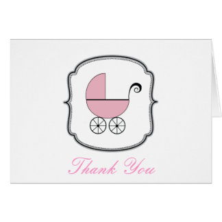 Baby Buggy Thank You Card