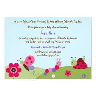 Baby Bugs Ladybug Baby Shower Invitations