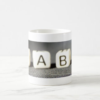 Baby Building Block Letters Basic White Mug