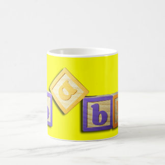 Baby Building Block Letters Mug