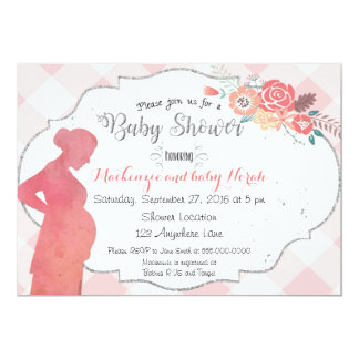 Baby Bump Silhouette Baby Shower Invitation