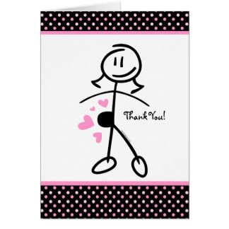 Baby Bump Stick Mom Personalized Note Card