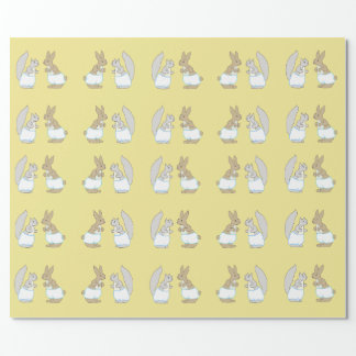 Baby Bunnies & Squirrels in Diapers Wrapping Paper