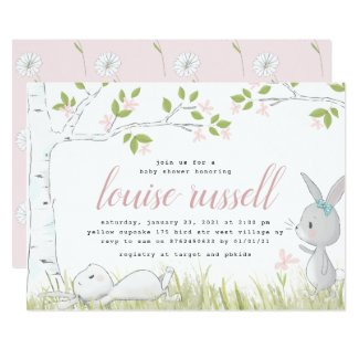 baby bunny baby shower invitation