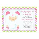 """Baby Bunny Birthday Party Invitation 5"""" X 7"""" Invitation Card"""