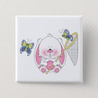 Baby Bunny Cartoon 15 Cm Square Badge