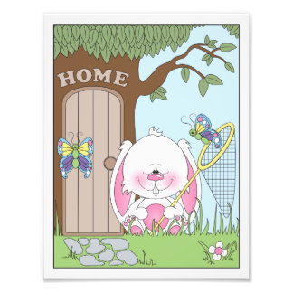Baby Bunny Cartoon Photo Art