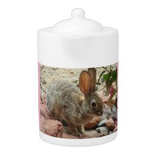 Baby Bunny in Pink MediumTea Pot