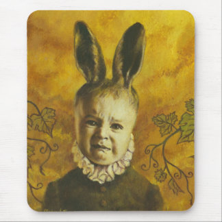 Baby Bunny Mutant Design Mouse Pad