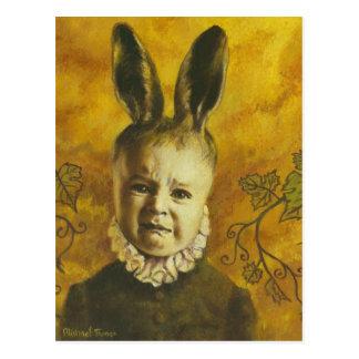 Baby Bunny Mutant Design Postcard
