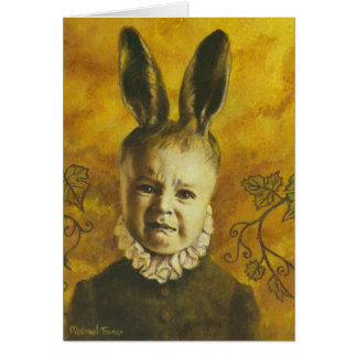 Baby Bunny Mutant Greetings Card
