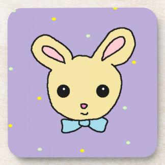 Baby Bunny Purple Coaster