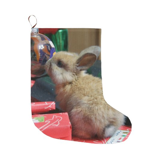 baby bunny rabbit Christmas stocking