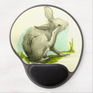 Baby Bunny Scratching His Ear Gel Mouse Pad