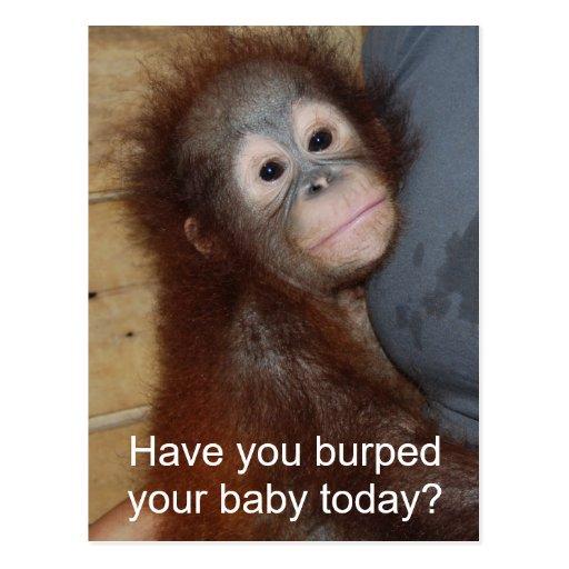 Baby Burp Post Card