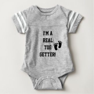 Baby Business- A Real Toe Getter Baby Bodysuit