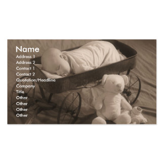 Baby Business or Announcement Pack Of Standard Business Cards