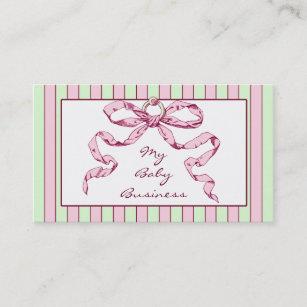 Stripe bow business cards zazzle uk baby business stripes and bow business cards colourmoves