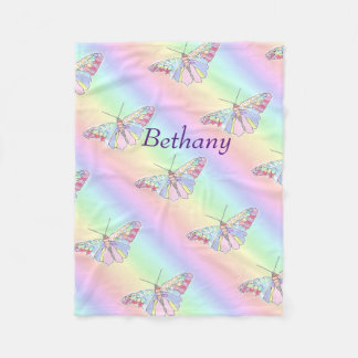 Baby Butterflies Fleece Blanket
