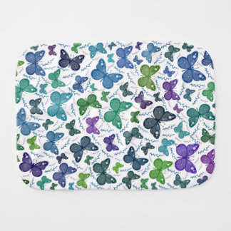 Baby Butterfly Burp Cloth