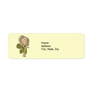 Baby Butterfly Strangeling Addess Label Return Address Label