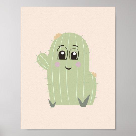 Baby Cactus Nursery Wall Art