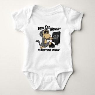 Baby Cad Monkey Baby Bodysuit