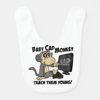 Baby CAD Monkey Bib