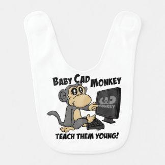 """Baby CAD Monkey """"Teach Them Young"""" Bib"""