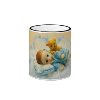 Baby cake topper coffee mugs