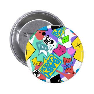 baby cakes 6 cm round badge