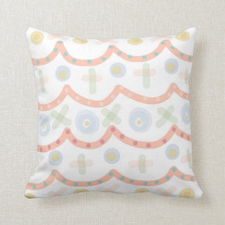 Baby Cakes. Colourful Pastel Pattern Cushion