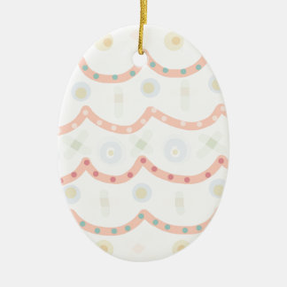 Baby Cakes. Sweet pastel colourful pattern Ceramic Oval Decoration