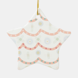 Baby Cakes. Sweet pastel colourful pattern Ceramic Star Decoration