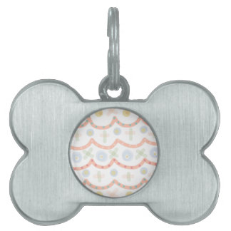 Baby Cakes. Sweet pastel colourful pattern Pet ID Tag