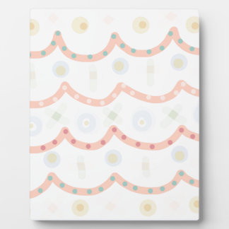 Baby Cakes. Sweet pastel colourful pattern Plaque