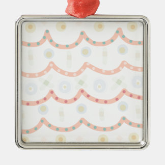 Baby Cakes. Sweet pastel colourful pattern Silver-Colored Square Decoration