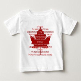 Baby Canada Anthem T-shirt Souvenir Canada Tee