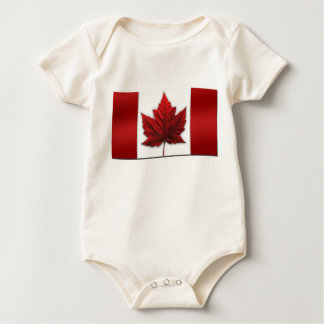 Baby Canada Flag Souvenir Organic One-Piece Rompers