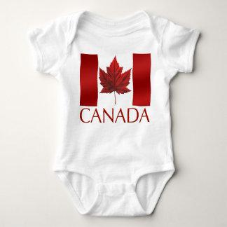 Baby Canada Flag Souvenir Organic One-Piece Tshirts