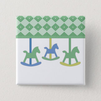 Baby Carousel Collection 15 Cm Square Badge
