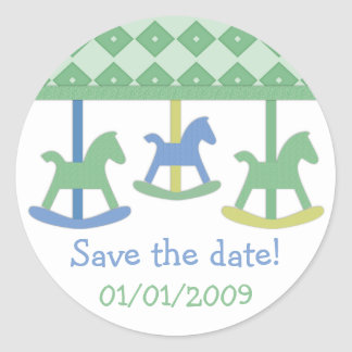Baby Carousel Collection Classic Round Sticker